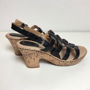 b.o.c Black Sandal Heels